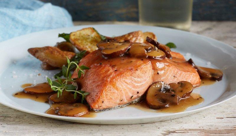 ricetta-salmone-funghi